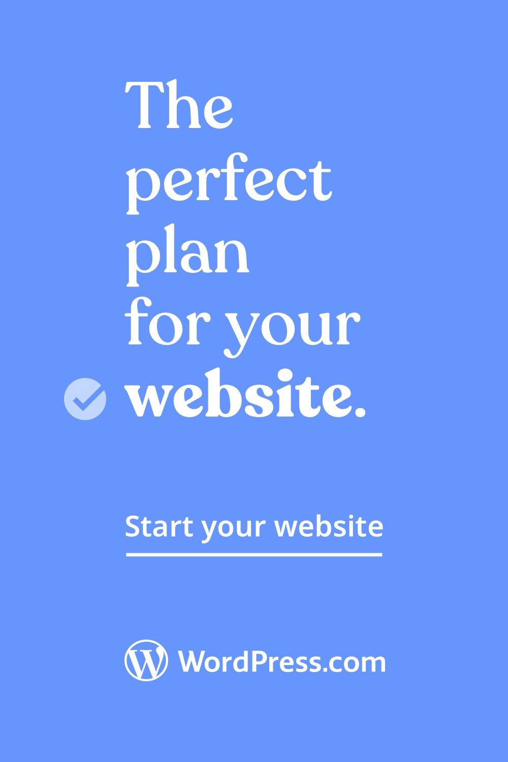 Create a website in minutes.