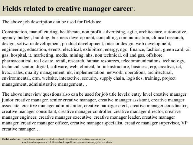 Creative Director Responsibilities Creative Director Job Business  Development Job Description
