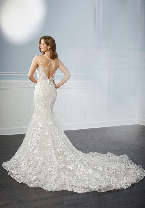Lace wedding dress with train – Style 15710 by Christina Wu Brides – Learn more about this wedding dress on WeddingWire!