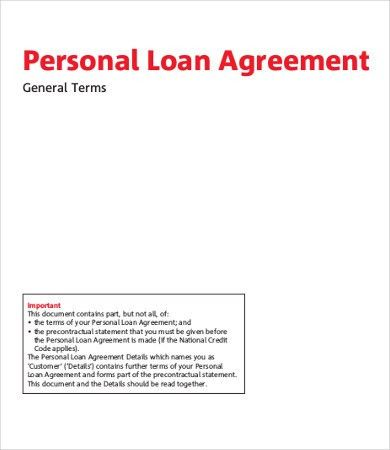 Free Simple Loan Agreement Loan Agreement Template Word Excel - free personal loan agreement form