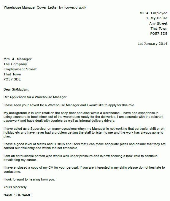 warehouse clerk cover letter | node2001-cvresume.paasprovider.com