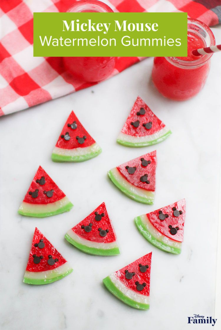 Who doesn't love biting into a ripe, juicy watermelon after spending the day in the hot sun? Even better? These yummy watermelon gummies! And the best part are the seeds shaped like Mickey! You and your little ones will have a fun summer snacking on these Mickey Watermelon Gummies. Click for the Mickey recipe.