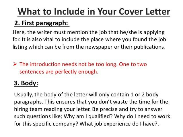 What Do I Include In A Cover Letter Download What To Include In - what should a cover letter contain