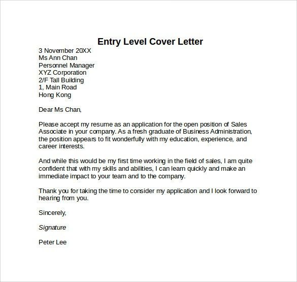 Cover Letter Entry Level Marketing. Entry Level Cover Letter ...  Entry Level Cover Letter