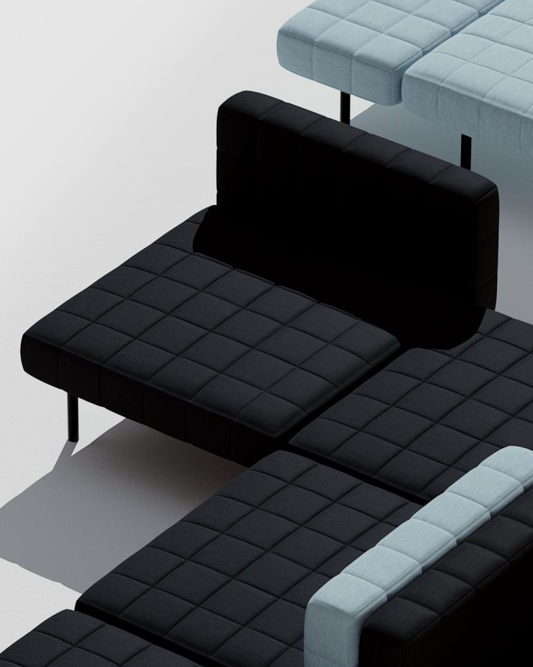 Bjarke Ingels Group launches first modular sofa with Common Seating called Voxel
