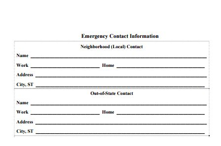 Contact Information Form Template 5 Contact Info Templates - contact information form