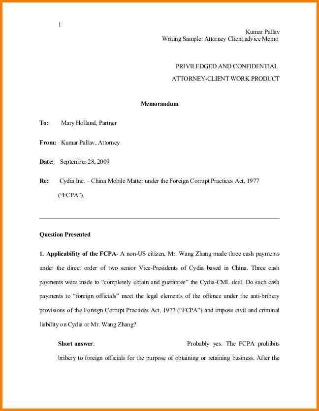 legal memo hitecauto - sample confidential memo