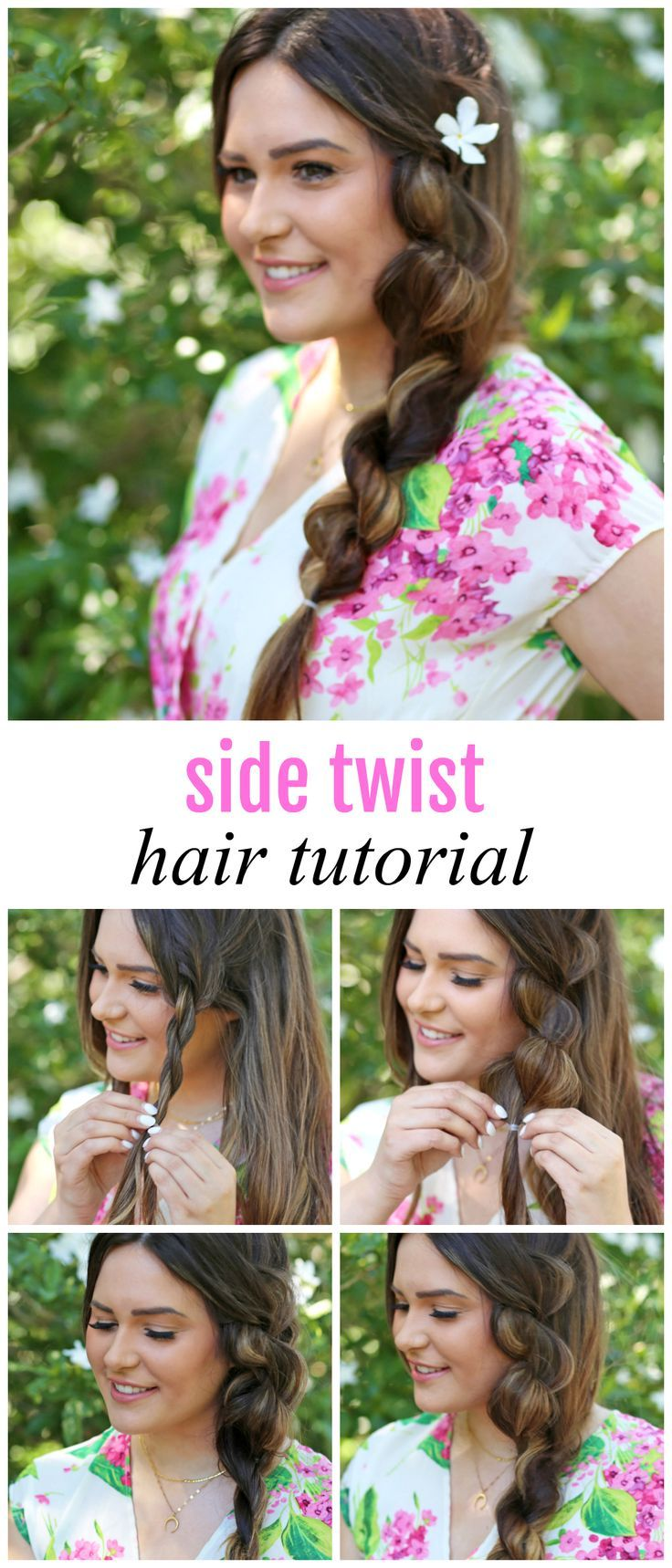 So easy to re-create! // Popular Orlando blogger Michelle Kehoe of Mash Elle shares how to create a side twist in under 10 minutes! This quick and easy hairstyle for long and short hair is perfect for a casual or dressy look! / ad @haircuttery Similar to a braid, this twist will steal the show! #hairstyle #longhair #twist #balayage #hairstylesforwomen