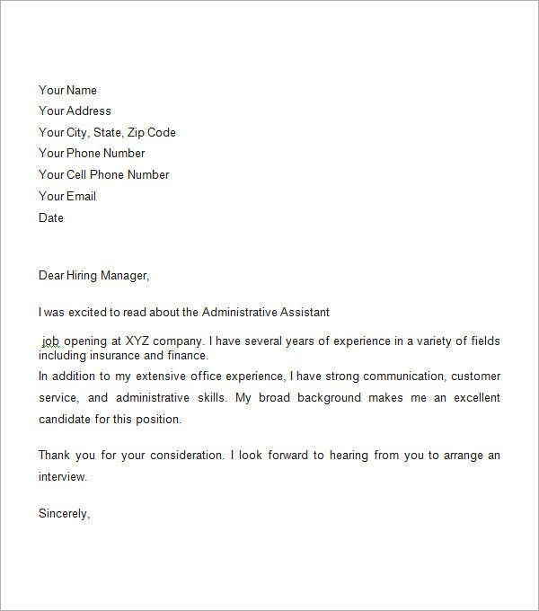 Example Of Business Cover Letter Cover Letter Example, Best - sample business email