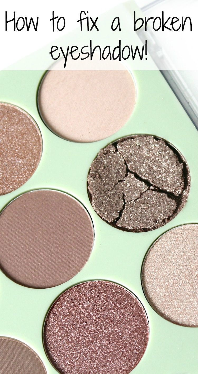 Don't throw that palette out! Fix a broken eyeshadow with this easy tutorial!