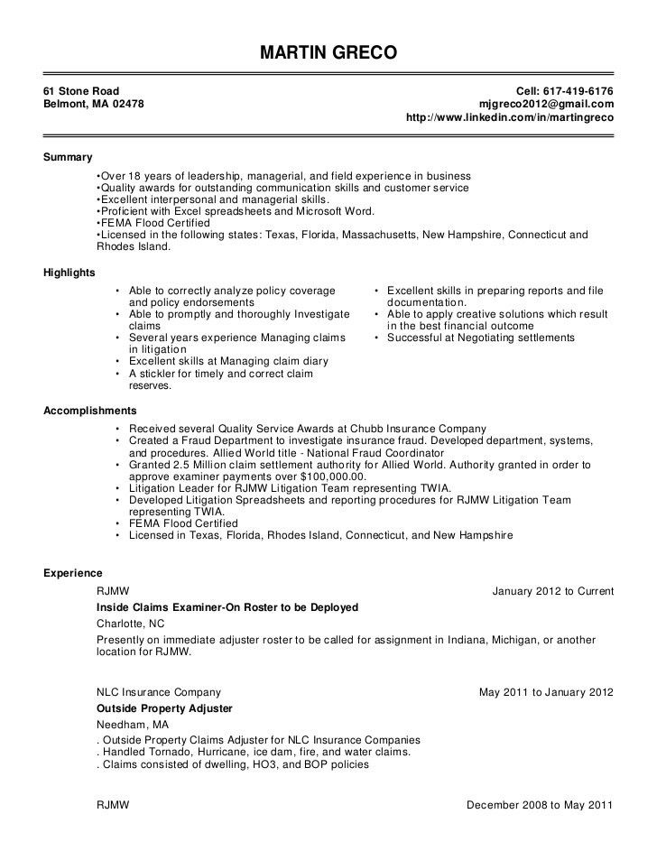 claims manager sample resume   node2004-resume-template.paasprovider.com