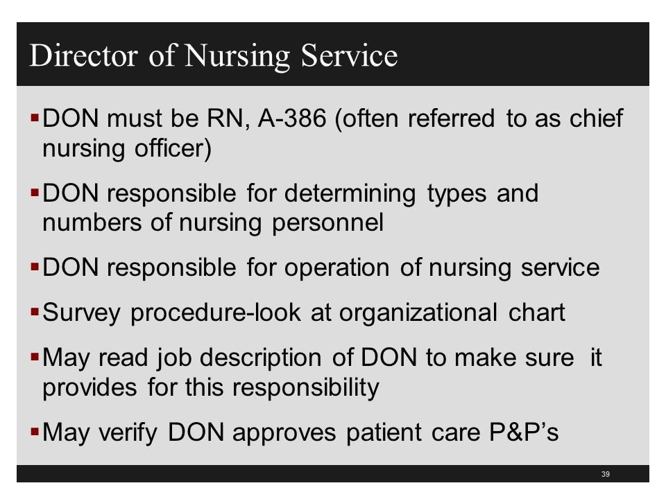 Cno Job Description Chief Nursing Officer - director of nursing job description