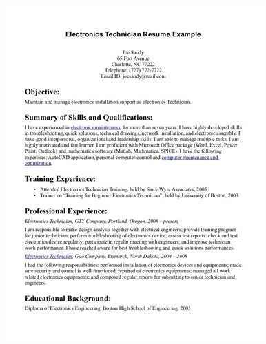 nurse tech resume