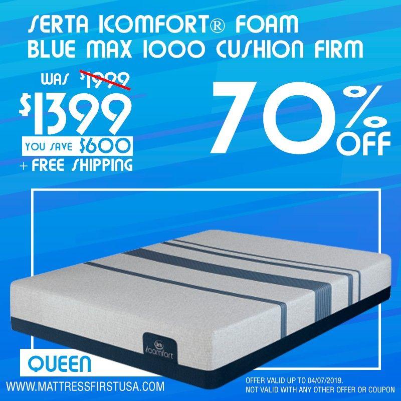 Queen Mattress Serta Icomfort Foam Blue Max 1000 Cushion Firm Serta Mattress Queen Mattress Serta