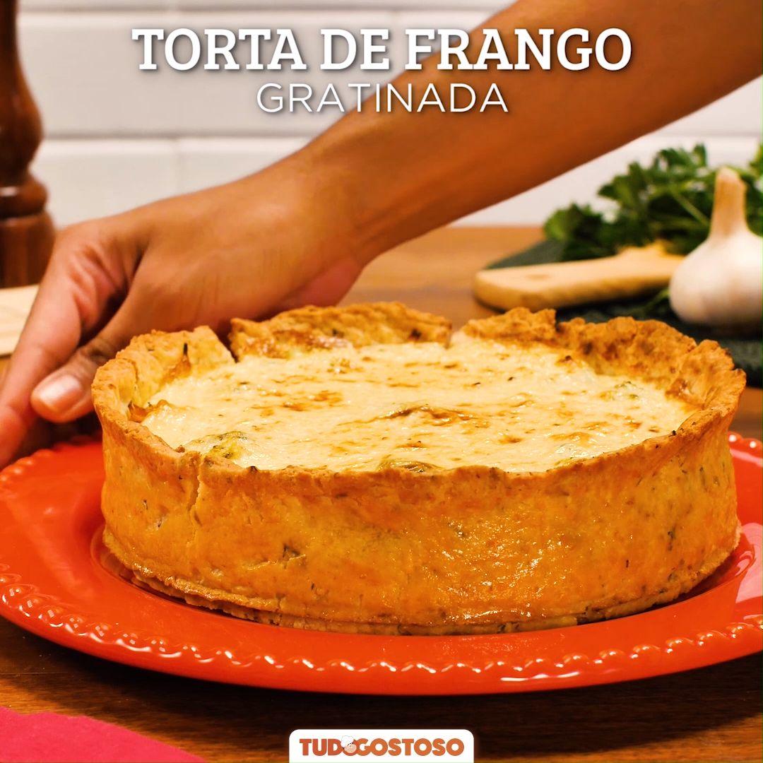 Torta de Frango Gratinada
