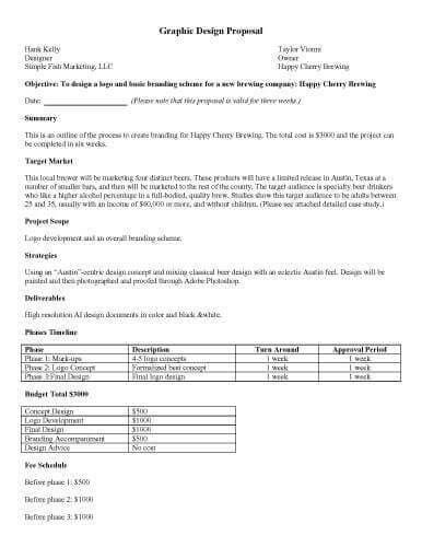 Interior Design Proposal Template Sample Interior Design Proposal - graphic design proposal template