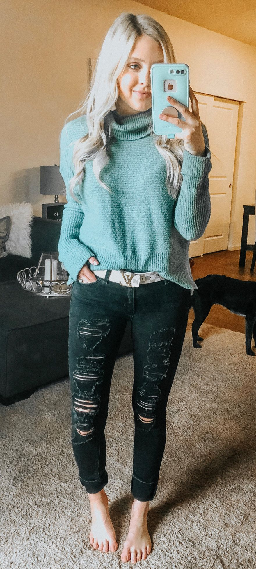 gray knit sweater #spring #outfits