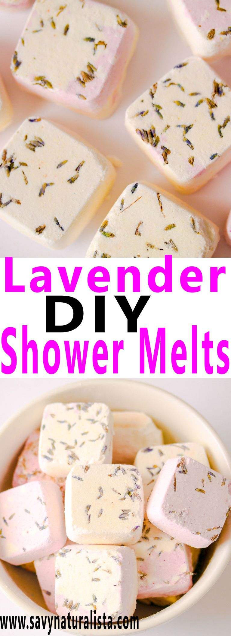 Soothing, calm and invigorating Shower melts are made with pure lavender essential oils.