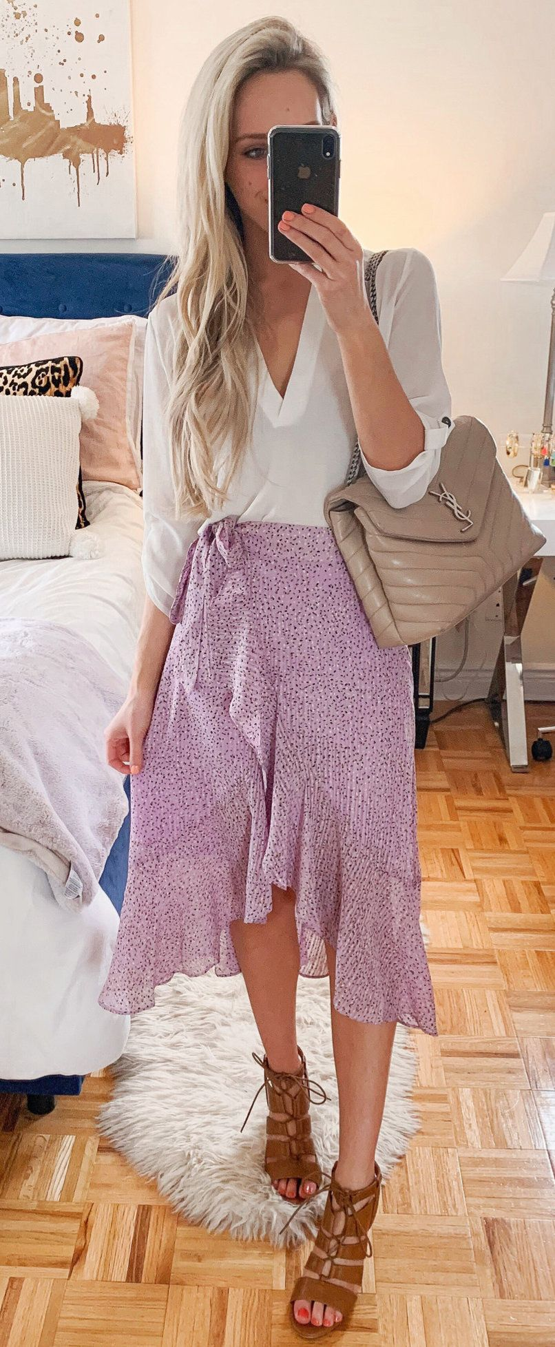 pink high low skirt #spring #outfits