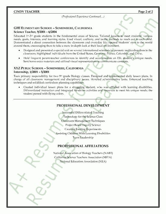 sample science teacher resume science teacher resume sample page1 montessori teacher resume