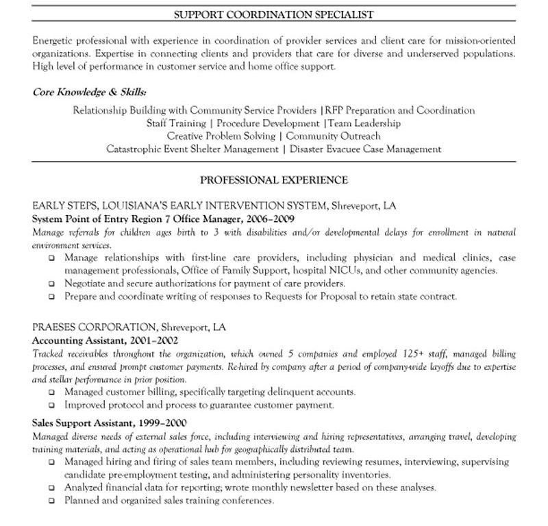 call center job description resume