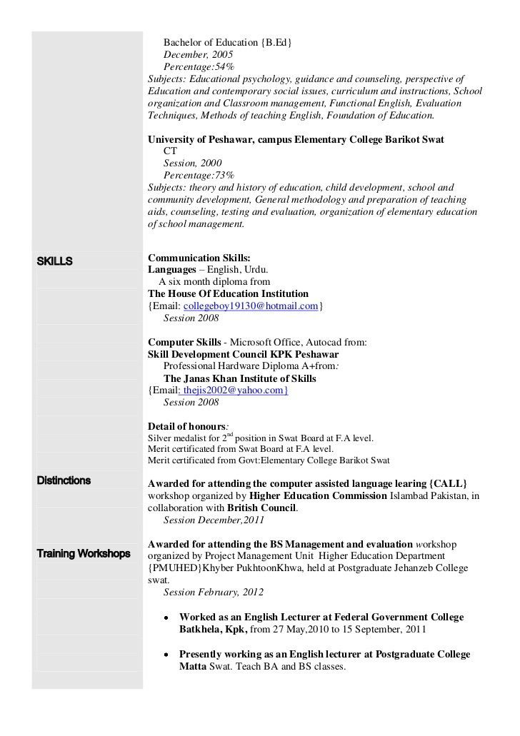 Resume Language Skills Example - Examples of Resumes