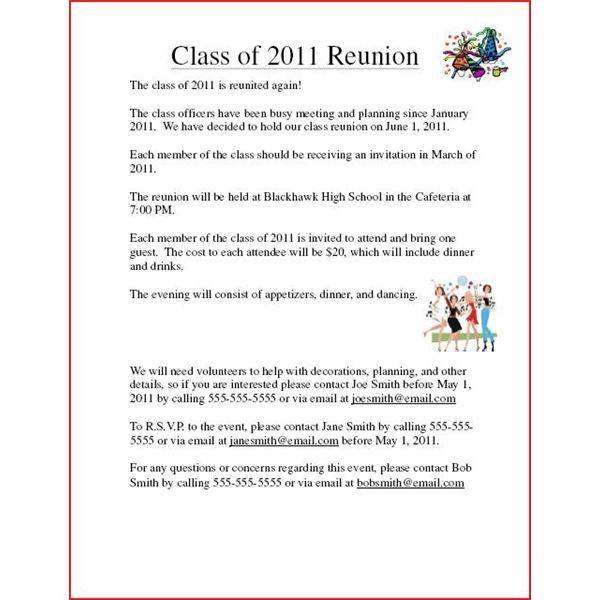 contoh invitation letter reuni choice image invitation sample