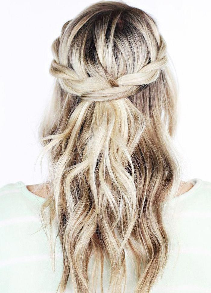 """To start, part your hair, as you would, to create a classic half-up, half-down hairstyle. On one side, take the section of hair you'll be pinning back, and braid all the way down. Secure with a bobby pin in the back. Do the same with the other side, except when you go to pin, pull open the first braid and thread the new one through. That's it. Five minutes to an ultra pretty infinity braid. <a class=""""pintag"""" href=""""/explore/Weddinghairstyles/"""" title=""""#Weddinghairstyles explore Pinterest"""">#Weddinghairstyles</a><p><a href=""""http://www.homeinteriordesign.org/2018/02/short-guide-to-interior-decoration.html"""">Short guide to interior decoration</a></p>"""