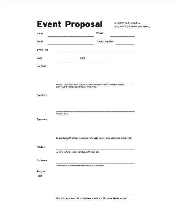 Event Proposal Sample Letter Sample Event Proposal Letter 7 - non profit proposal template