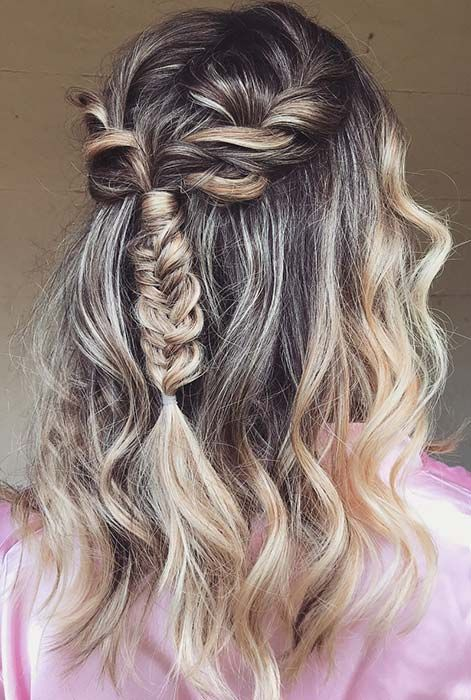 """Messy, Braided Half Updo for Special Occasions<p><a href=""""http://www.homeinteriordesign.org/2018/02/short-guide-to-interior-decoration.html"""">Short guide to interior decoration</a></p>"""