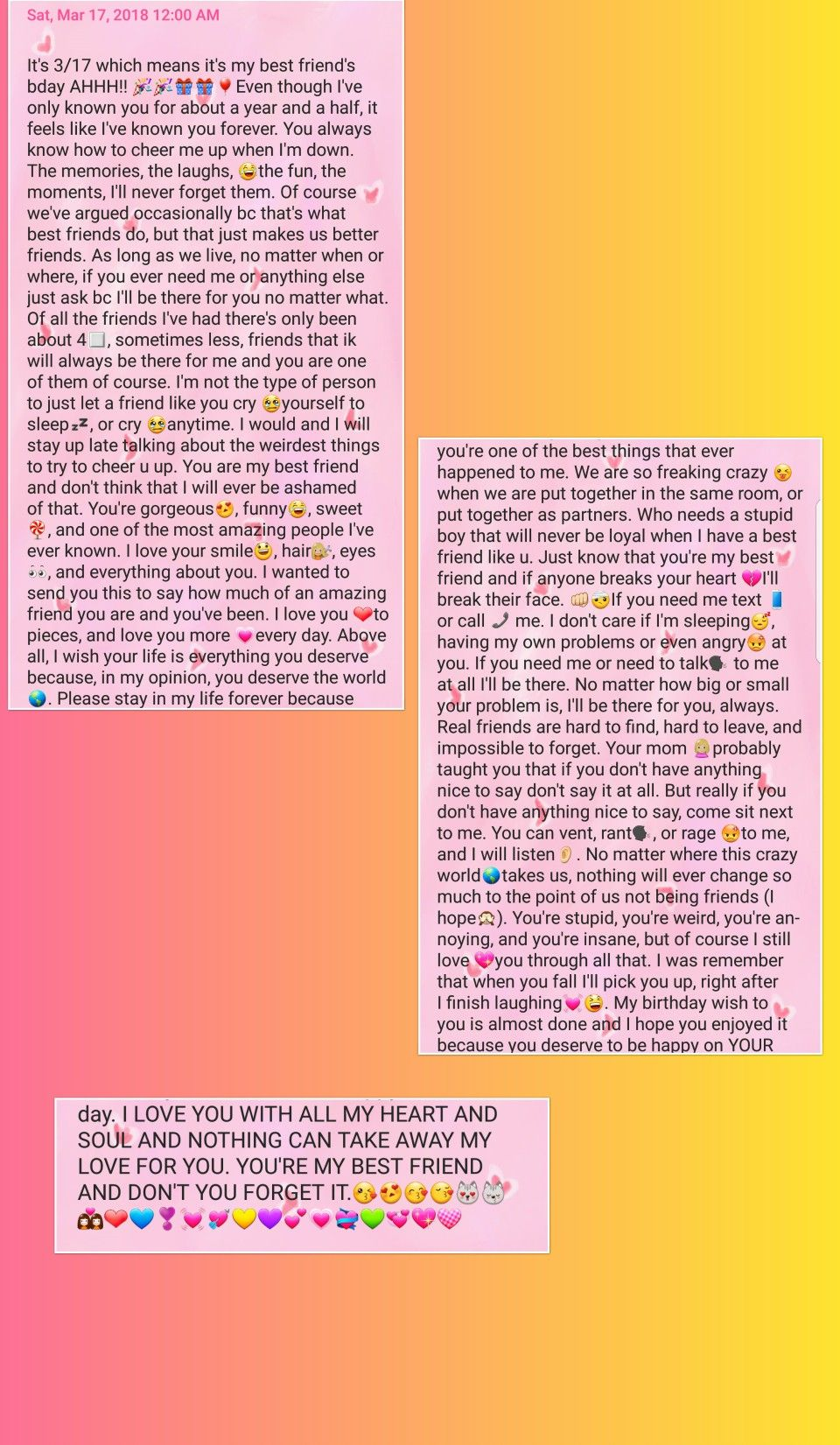My Text On My Best Friend S Birthday Happy Birthday Quotes For