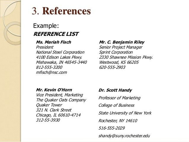 Example Of Reference Page Resume Reference Template Uxhandycom
