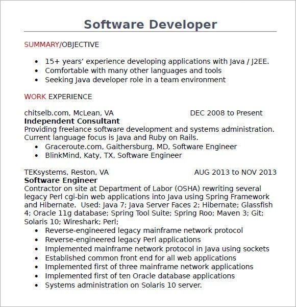 ruby on rails programmer sample resume