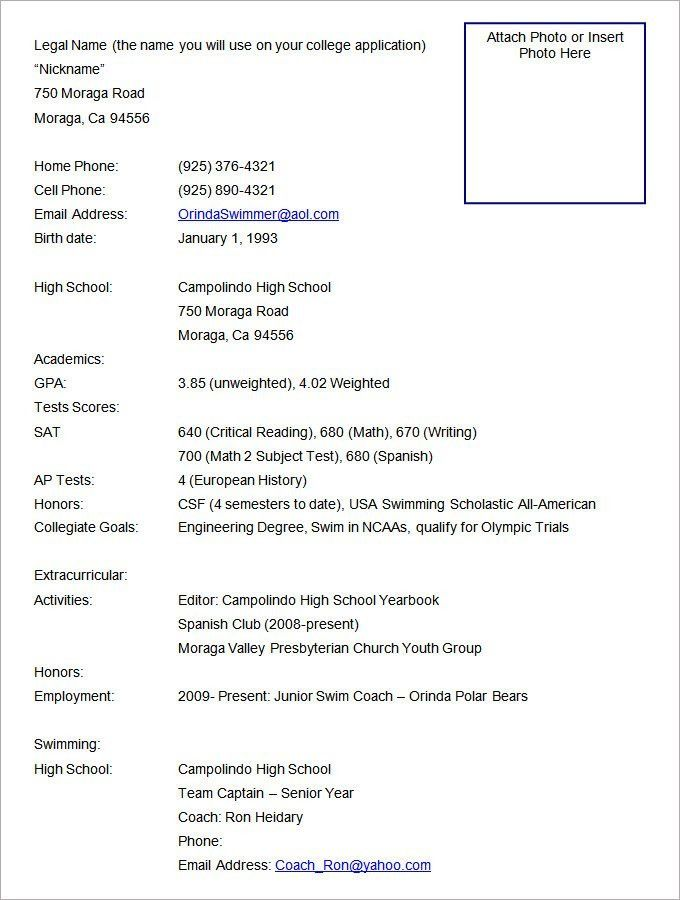 Sports Resume Template Sports Fitness Resume - athletic resume template