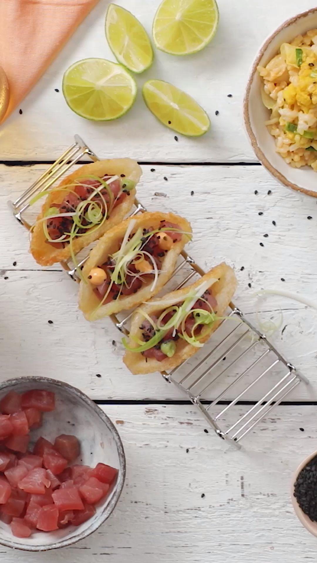 Mini Tacos de Atún