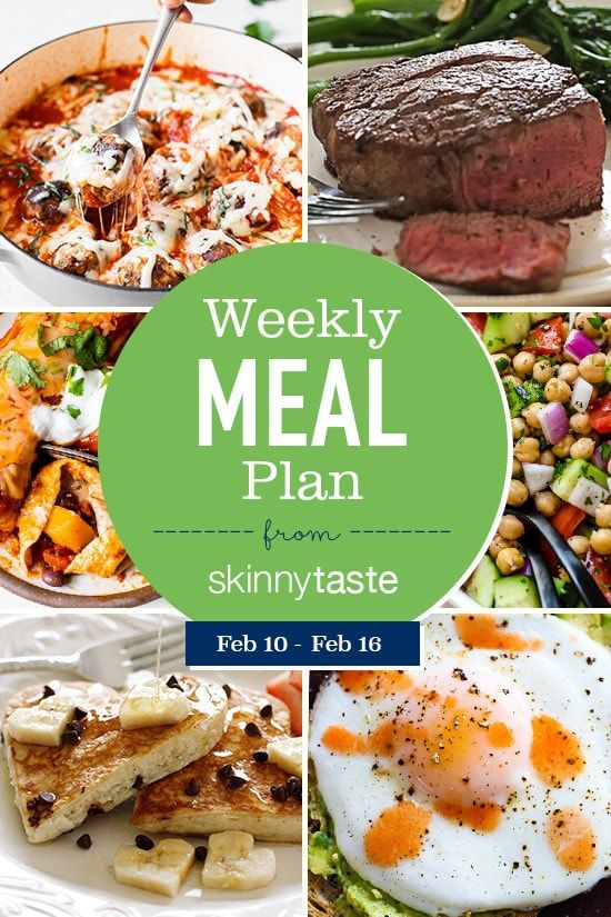 7-Day Weight-Loss Meal Plan (February 10-February 16)