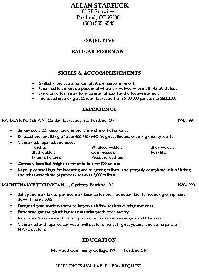 Construction Worker Resume Examples - Examples of Resumes