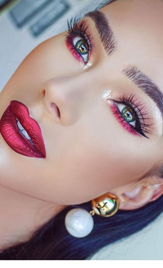Nice red makeup inspire
