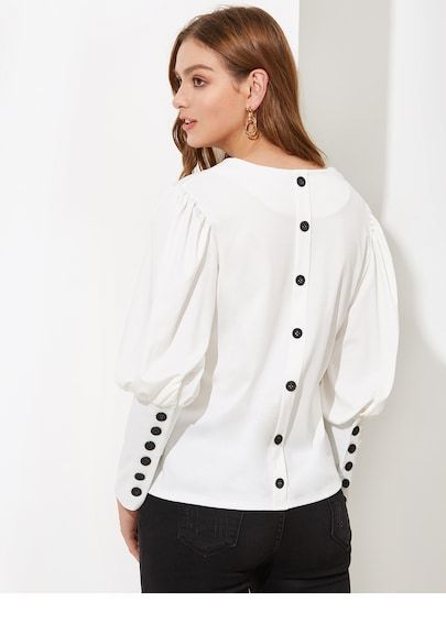 I like the back of this blouse