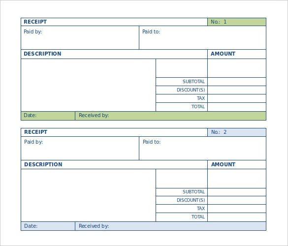 Receipt Slips 18 Payment Receipt Templates Free Sample Example - payment receipt sample
