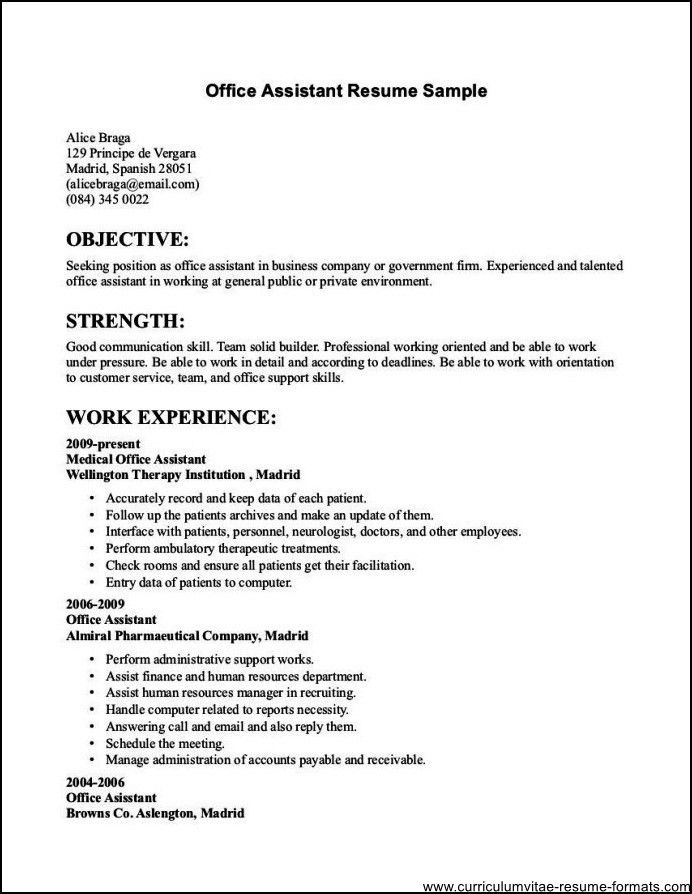 Resume Templates For Clerical Positions Clerical Resume Examples - resume examples for jobs with no experience