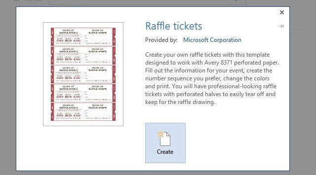 Numbered Raffle Ticket Template Free Free Printable Raffle Ticket - create your own movie ticket
