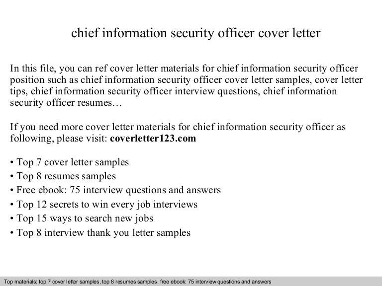 security cover letter