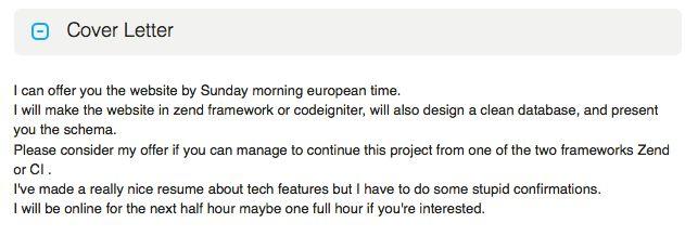 odesk cover letter web designing job