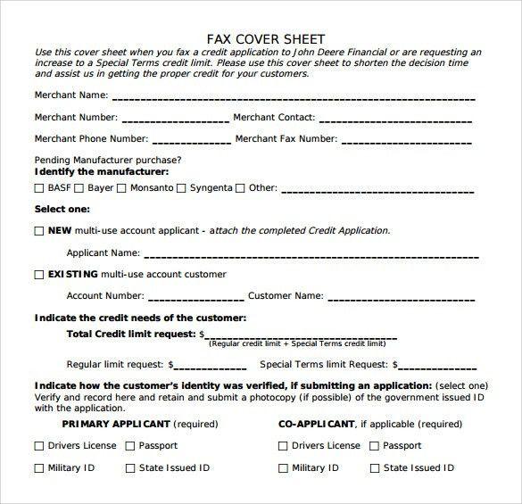 Fax Sheet Example 10 Fax Cover Sheet Templates Free Sample - sample business fax cover sheet
