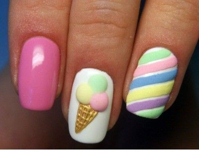 Colorful summer nails style