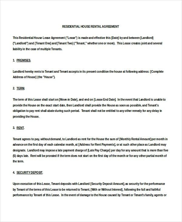 Leasing Agreement Sample Lease Agreement Create A Free Rental - agreement templates