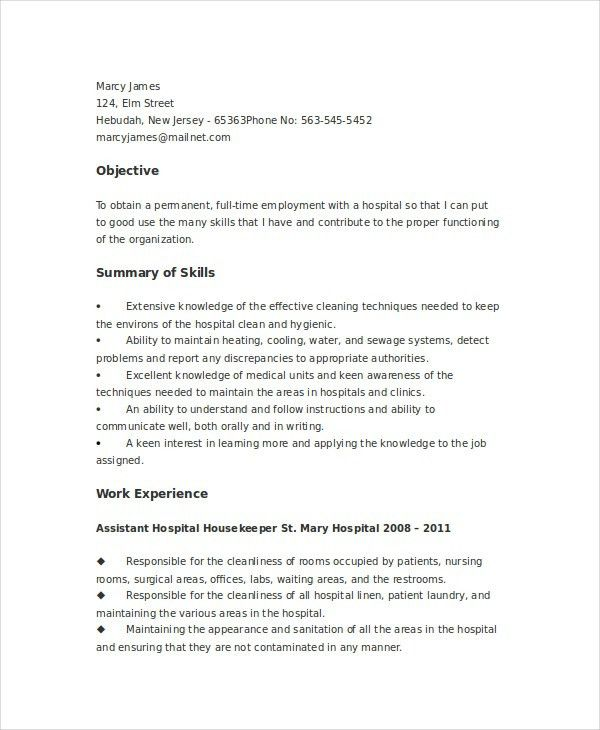 Laundry Worker Sample Resume Professional Laundry Worker Templates