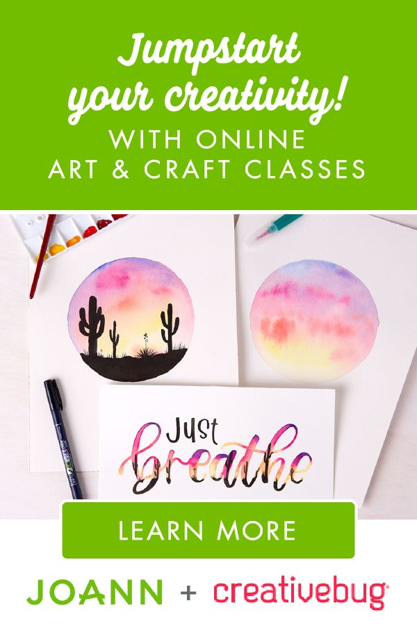 Your creative side has no limits with Creativebug! They offer unlimited access to thousands of online art & craft video classes and downloadable patterns, templates, and recipes. Click here to subscribe now!