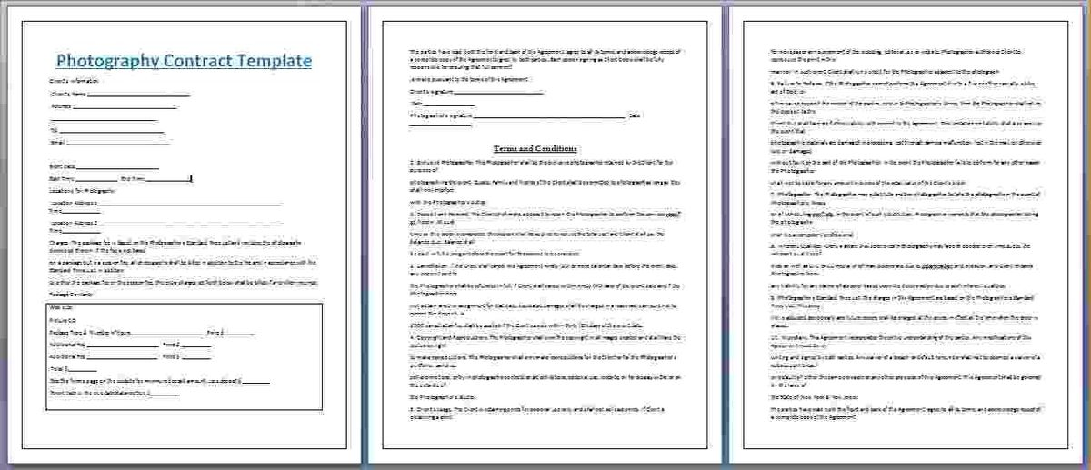 Photography Contract Template 25 Best Photography Contract Ideas - dj contract template